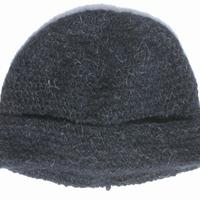 Black mohair hat