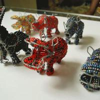 Metal wire animals