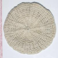 White mohair hat