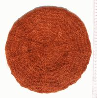 Orange mohair hat